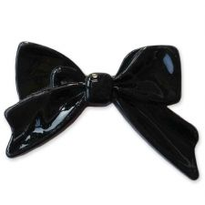 45mm BLACK Bright Bowknot Flatback Bow Cabochon